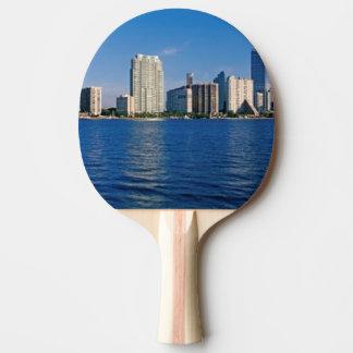 Skyline of Miami, Florida Ping Pong Paddle