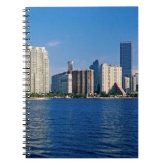 Skyline of Miami, Florida Spiral Notebook