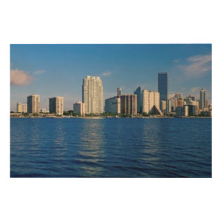 Skyline of Miami, Florida Wood Wall Decor