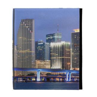 Skyline of Miami iPad Folio Cover