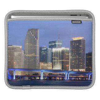 Skyline of Miami iPad Sleeve