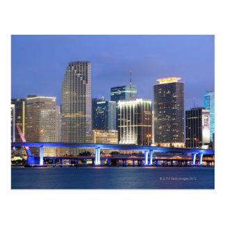 Skyline of Miami Postcard