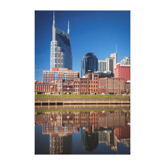 Skyline Of Nashville, Tennessee Canvas Print