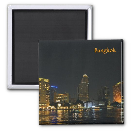 Skyline of night Bangkok Square Magnet