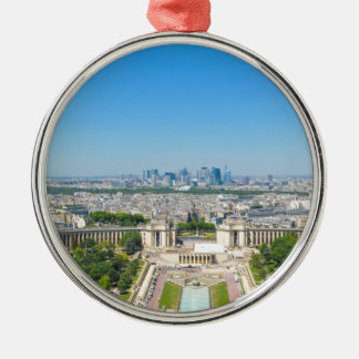 Skyline of Paris Christmas Ornament