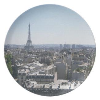 Skyline of Paris, France Plate