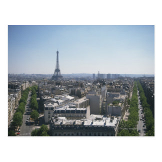 Skyline of Paris, France Postcard