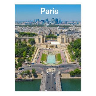 Skyline of Paris Postcard