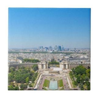 Skyline of Paris Tile