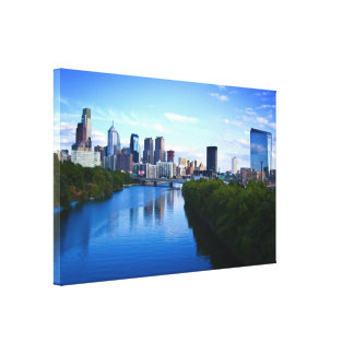 Skyline of Philadelphia canvas print