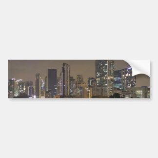 Skyline of Singapore as seen from an apartment Car Bumper Sticker