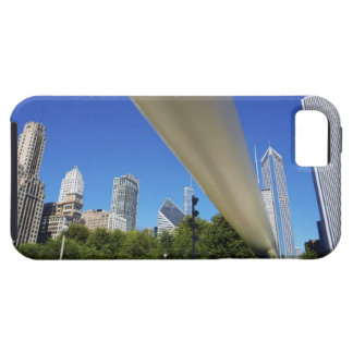 Skyline of Skyscrapers and footbridge at iPhone 5 Cover