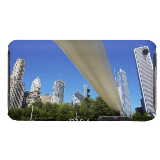 Skyline of Skyscrapers and footbridge at iPod Case-Mate Cases