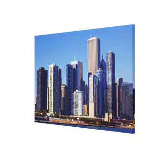 Skyline of Skyscrapers in downtown Chicago Canvas Print