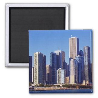 Skyline of Skyscrapers in downtown Chicago Magnet