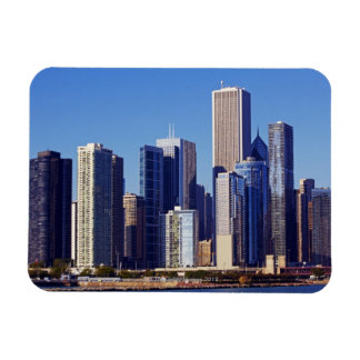 Skyline of Skyscrapers in downtown Chicago Rectangular Photo Magnet