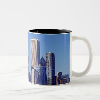 Skyline of Skyscrapers in downtown Chicago Two-Tone Mug