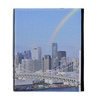 Skyline of Tokyo and Rainbow Bridge iPad Folio Cases