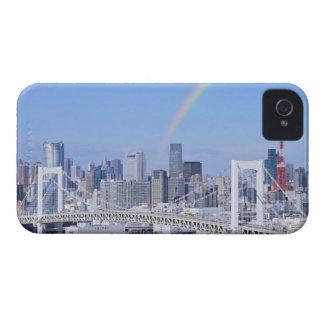 Skyline of Tokyo and Rainbow Bridge iPhone 4 Case