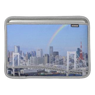 Skyline of Tokyo and Rainbow Bridge MacBook Sleeve