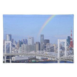 Skyline of Tokyo and Rainbow Bridge Placemat