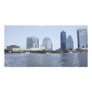 Skyline on the Water Photo Card Template