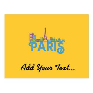 Skyline Paris Postcard