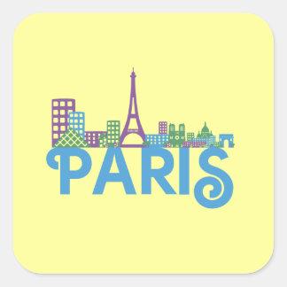 Skyline Paris Square Sticker