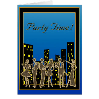 Skyline Party Invitation Greeting Card