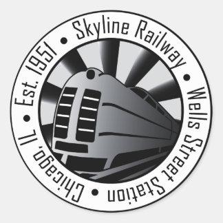 Skyline Railway Classic Round Sticker