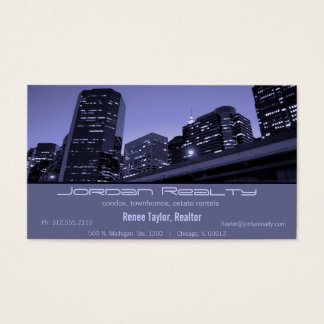 Skyline real estate business cards business card printing skyline real estate business card reheart Image collections