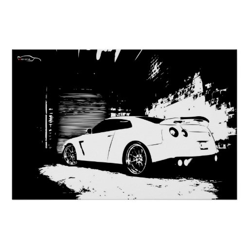 Skyline Rear Quarter View Posters