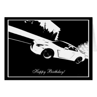 Skyline Rolling Shot Car Theme Birthday Card