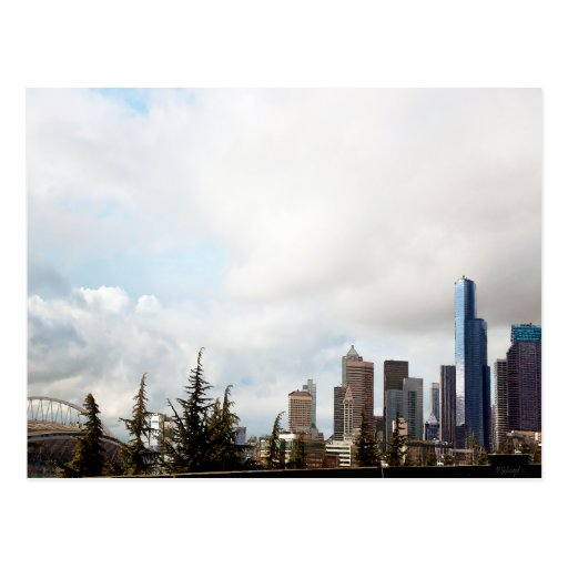 Skyline Seattle...A Different View... Post Card