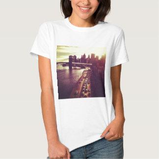 Skyline Sunset - Brooklyn Bridge and NYC Cityscape Shirt