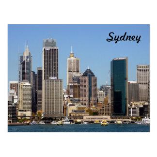 skyline sydney postcard
