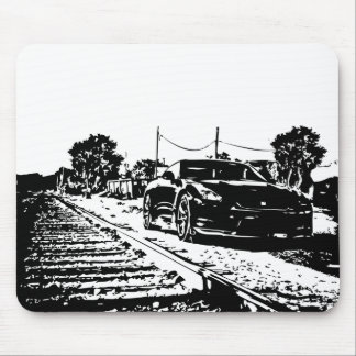 Skyline Train Tracks shot Mouse Mat