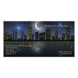 Skyline View Holiday Party Invitation Picture Card