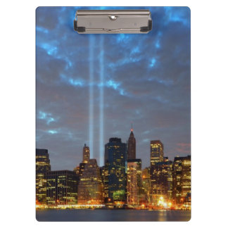 Skyline view of city in night. clipboard