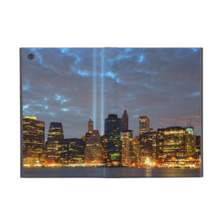 Skyline view of city in night. cover for iPad mini