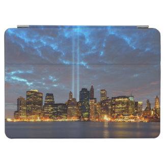 Skyline view of city in night. iPad air cover