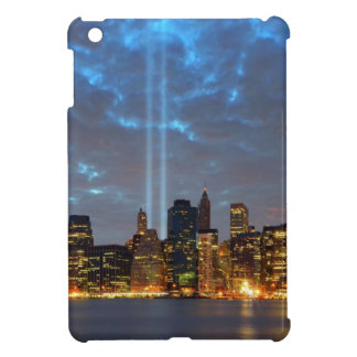 Skyline view of city in night. iPad mini covers