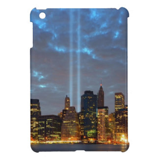 Skyline view of city in night. iPad mini covers