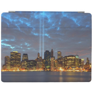 Skyline view of city in night. iPad smart cover