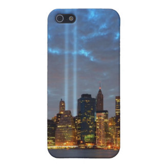 Skyline view of city in night. iPhone 5 cases