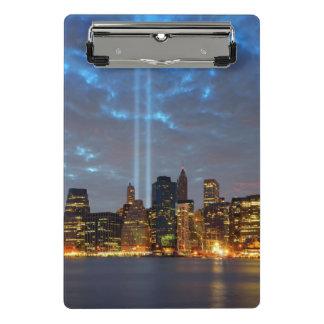 Skyline view of city in night. mini clipboard