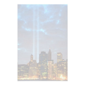 Skyline view of city in night. stationery