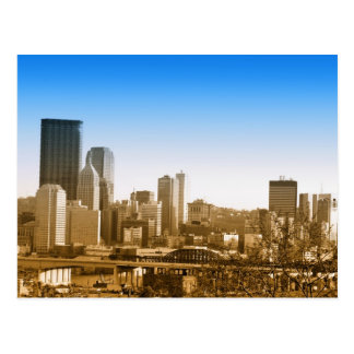 Skyline view of Pittsburgh art photo Postcard
