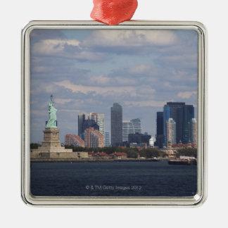 Skyline with Statue of Liberty Christmas Ornament