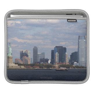 Skyline with Statue of Liberty iPad Sleeve